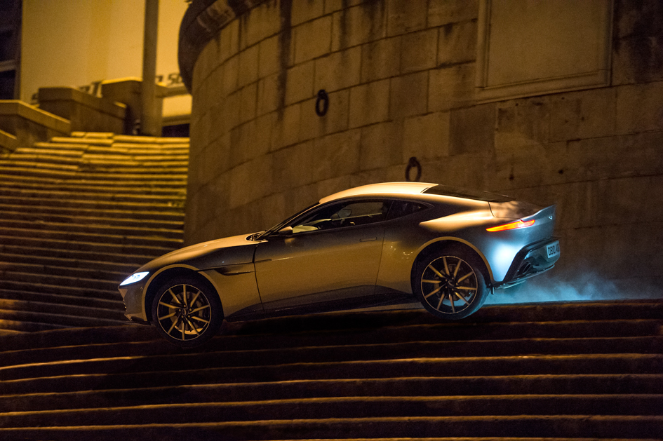 Bond is chased through the streets of Rome in his Aston Martin DB10 in Metro-Goldwyn-Mayer Pictures/Columbia Pictures/EON Productions' action adventure SPECTRE.